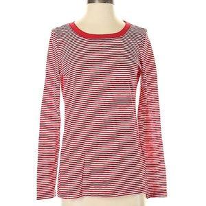 Splendid Celine Slub Red White Striped T-Shirt XL